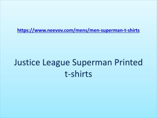 Superman Printed Mens and Boys T Shirts