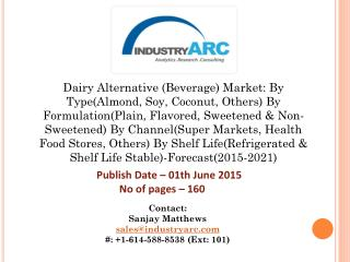 Dairy Alternative Market driving lactose free products owing to the increasing demand for plant based milk