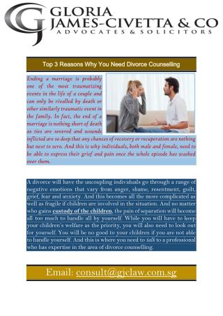 Top 3 Reasons Why You Need Divorce Counselling