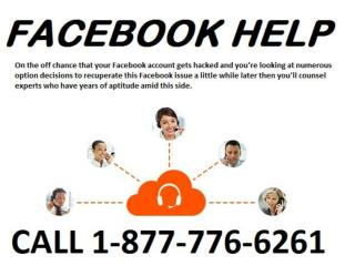 Need help for FB, Contact Facebook Help 1-877-776-6261