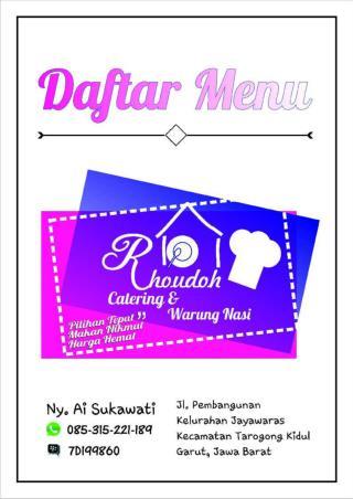 Catering Garut Rhoudoh Catering Garut 085315221189