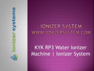 KYK Alkaline Water Ionizer | KYK Alkaline | Ionizer Systems