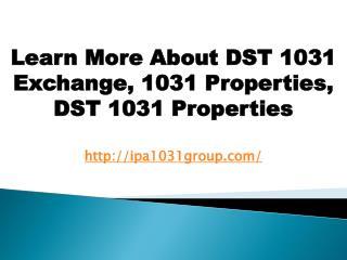 DST 1031 Exchange