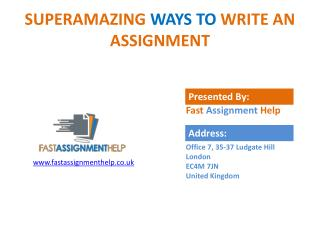 The things to follow before doing an assignment