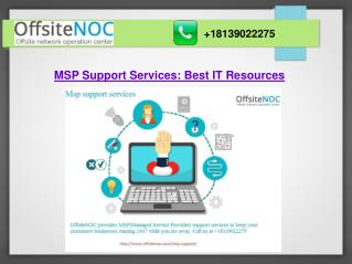 MSP Support Services: Best IT Resources