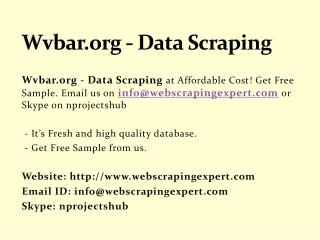 Wvbar.org - Data Scraping