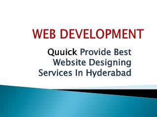 web development services | Best web designing services In Hyderabad
