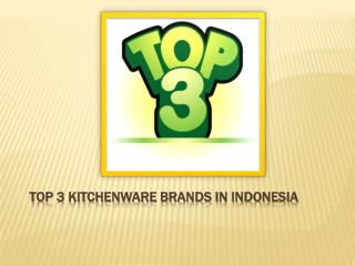 Kitchenware Shops In Indonesia