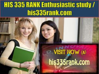 HIS 335 RANK Enthusiastic study / his335rank.com