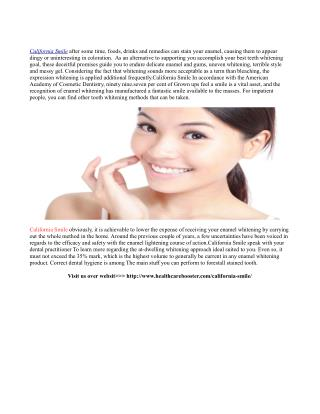 http://www.healthcarebooster.com/california-smile/