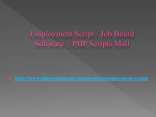 Employment Script / Job Board Software – PHP Scripts Mall