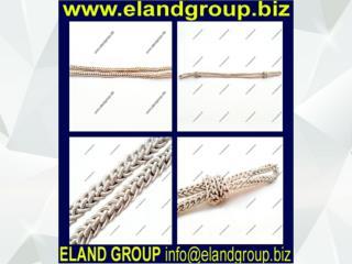 Silver bullion wire cap cords
