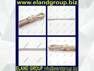 Military bullion wire construction cap cords