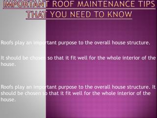 Tips That You Need To Know While Repairing Your Roof