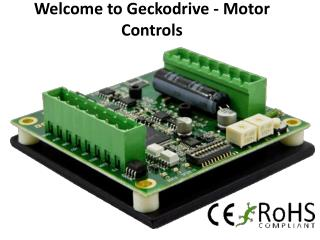 Welcome to geckodrive motor controls