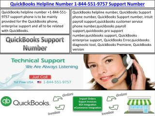 Quickbooks Helpline Number 1-844-551-9757 Support Phone
