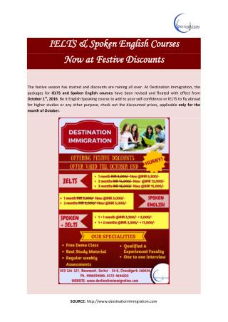 IELTS & Spoken English Courses Now at Festive Discounts