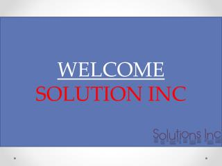 Solution inc loudspeakers