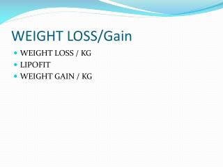 Weight Loss and Slimming Centers in Delhi