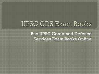 UPSC CDS Exam Books Online