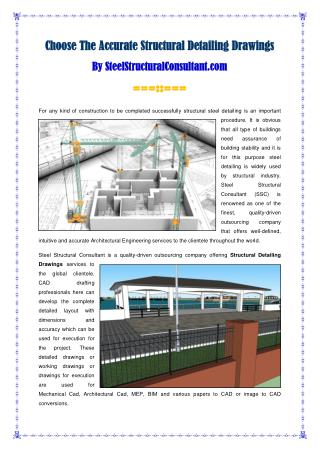 Structural Detailing Drawings