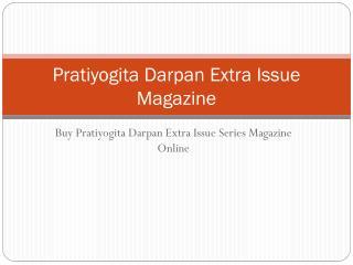 Pratiyogita Darpan Extra Issue Magazine