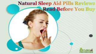 Natural Sleep Aid Pills Reviews - Read Before You Buy