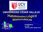 UNIVERSIDAD C SAR VALLEJO