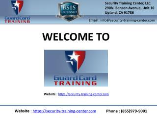 Security guard training online