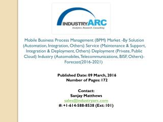 Mobile Business Process Management Market: business process automation to boost in Europe