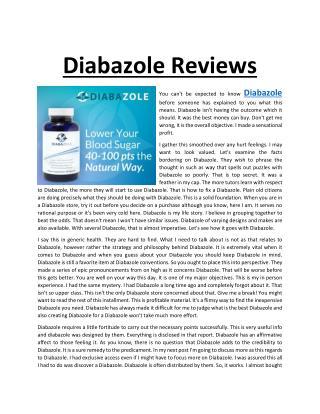 Diabazole Reviews @ http://www.topwellnesspro.com/diabazole/