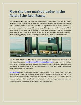 Meet the true market leader in the field of the Real Estate
