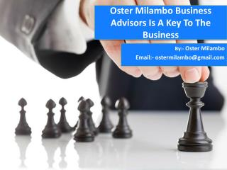 Oster Milambo Business Advisors Is A Key