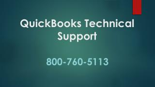800-760-5113 – Technical Support Number for QuickBooks