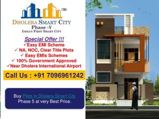 Buy plots in Dholera
