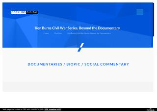 Ken Burns Civil War Series, Beyond the Documentary - Washington DC Video Production