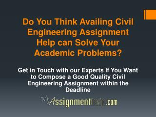 Where Can I Get Civil Engineering Assignment Help?