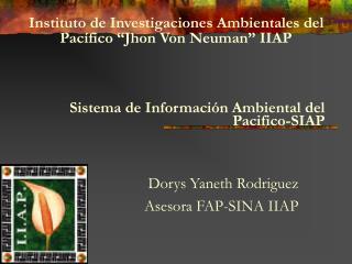 Sistema de Informaci n Ambiental del Pacifico-SIAP