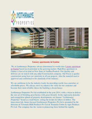 Luxury apartments in Guntur