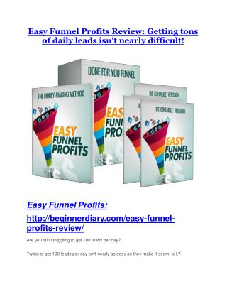 Easy Funnel Profits Review - Easy Funnel Profits  100 bonus items