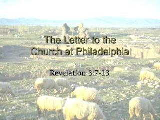 The Letter to the Church at Philadelphia