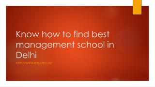 Know How to Find Best Management School