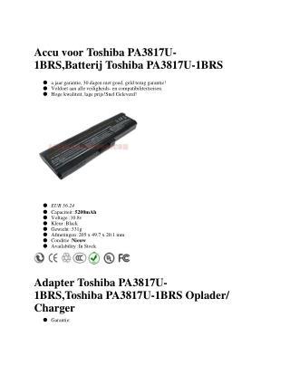 Toshiba PA3817U-1BRS