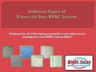Different Types of Filters for Your HVAC System