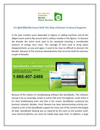 Fix QuickBooks Issues Dial Toll Free 1-800-477-8031
