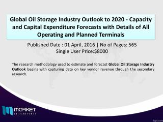 Global Oil Storage Industry Outlook to 2020 - Capacity and Capital Expenditure Forecasts with Details of All Operating a