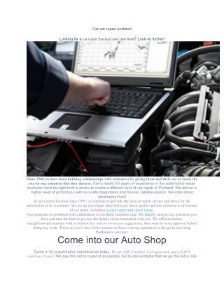 Car repair portland