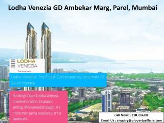 Lodha Venezia GD Ambekar Marg, Parel, Mumbai