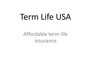 Term Life USA