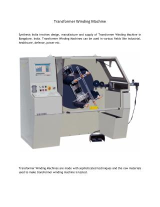 Transformer Winding Machine